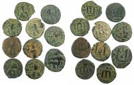 Ancient Coins - ARAB-BYZANTINE.Anonymous 7th Cent.AD.Mint of Hims ( Emessa ).Group of Ten AE Fulus ( Fals, Folles ).