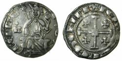 World Coins - CRUSADER STATES.CYPRUS. Hugh IV 1324-1359.AR.Gros Grand.cross at neck, letter B left field with annulet above, pellet end of obverse legend.