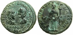 Ancient Coins - THRACE.ANCHIALIS.Gordian III and Tranquillina AD 241-244.AE.25.9mm.~#~.Homonia standing.