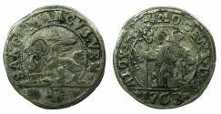 World Coins - ITALY.VENICE.Alvise Mocenigo IV AD 1763-1778.AR.10 Soldi.1763