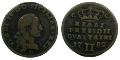 World Coins - ITALY.TUSCANY.ORBETELLO.Ferdinad IV King of Naples-Sicily 1759-1808.AE.2 Quattrini 1782.
