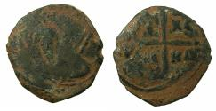 World Coins - CRUSADER STATES.Principality of Antioch.Tancred AD 1104-1112.AE.Follis.2nd type. Bust of Tancred.
