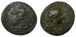Ancient Coins - CILICIA.HIEROPOLIS - CASTABALA.Marcus Aurelius AD 161-180.AE.28.1mm. Reverse.Dionysos