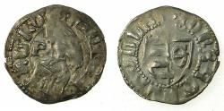 World Coins - ROMANIA.VOIVODES OF WALLACHIA.Radu I 1377-1383.Bi.Denier. sigla. Theta / P