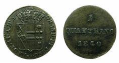 World Coins - ITALY.TUSCANY.Leopold II 1824-1859.AE.Quattrino 1840.