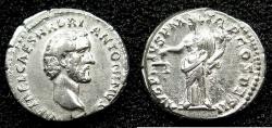 Ancient Coins - ROME.Antoninus Pius AD138-161.AR.Denarius struck AD 138.Mint of ROME.~#~.Aequitas standing.