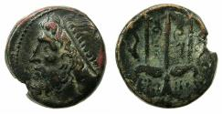 Ancient Coins - SICILY.Syracuse.Hieron II 274-216 BC.AE.19mm.