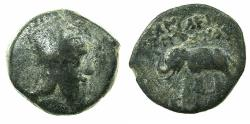 Ancient Coins - ARMENIA.ARTAXIADS.Tigranes V AD 6-12.AE.16.6mm. Reverse. Elephant standing left.