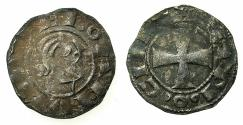 "World Coins - CRUSADER STATES.Principality of ANTIOCH.Bohemond III AD 1149-1163.Billon denier.""Bare head"" Class C."