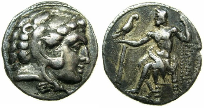 Ancient Coins - MACEDONIAN EMPIRE.CYPRUS.Philip III circa 323-315 BC.AR.Tetradrachm.Mint of SALAMIS.
