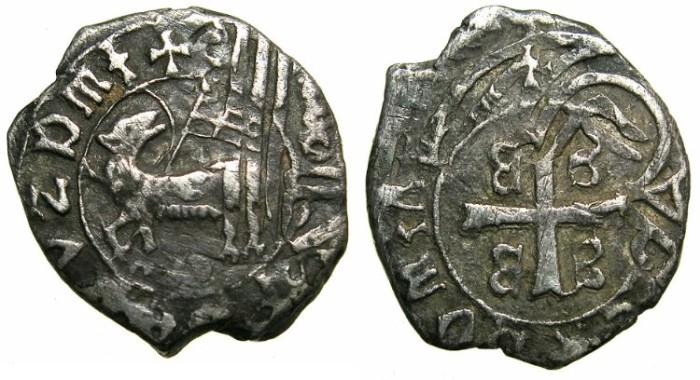 Ancient Coins - CRUSADER.GREECE.MYTILENE.Francesco II Gattilusio AD 1384-1403.AR.Soldino.~~~Overstruck on Ottoman Ache issued by Suleyman Celebi