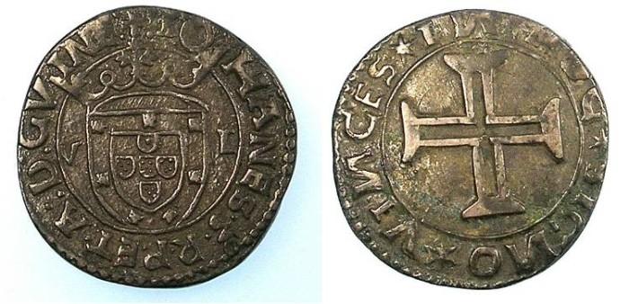 Ancient Coins - PORTUGAL.D.Joao III 1521-1557.AR.Tostao N.D.Mint of Lisbon.