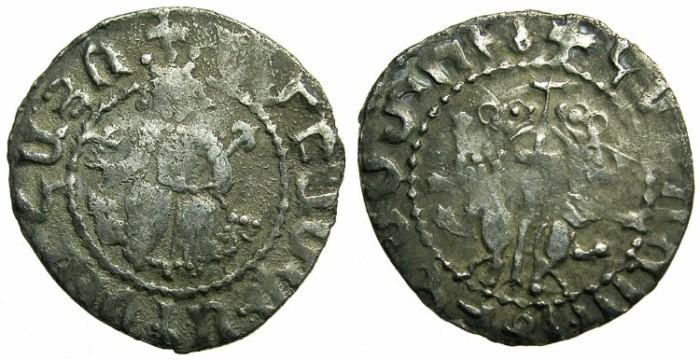 "Ancient Coins - ARMENIA.Smpad AD 1296-1298.AR.Tram"" Coronation issue""."