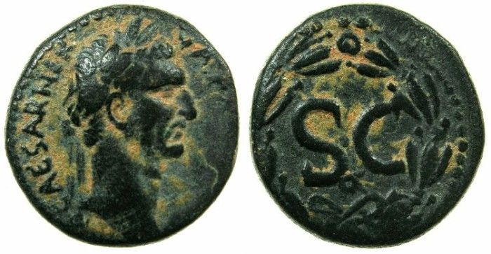 Ancient Coins - SYRIA.SELEUCIS AND PIERIA.Nerva AD 92-98.AE.21.3mm.Mint of ANTIOCH.