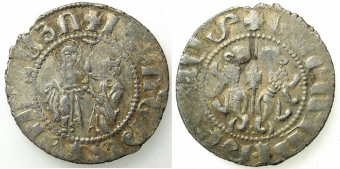 Ancient Coins - ARMENIA.Levon I The Great AD 1198-1219.AR.Coronation Tram.