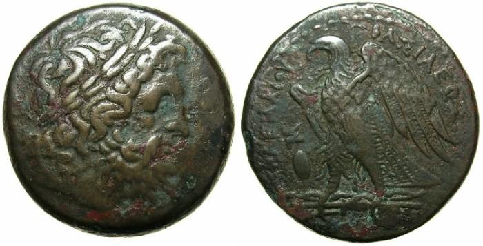 Ancient Coins - EGYPT.ALEXANDRIA.Ptolemy II Philadelphus 285-246 BC.AE.28.2mm.