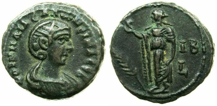 Ancient Coins - EGYPT.ALEXANDRIA.Cornelia Salonina, wife of Gallienus AD 253-268.Billon Tetradrachm, struck AD 264/65.~#~.Elpis walking left.