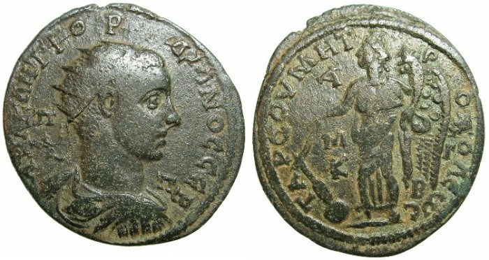 Ancient Coins - CILICIA.TARSUS.Gordian III AD 238-244.AE.38mm.~#~Nike.