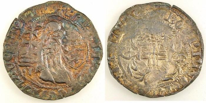 Ancient Coins - CRUSADER STATES.RHODES.Philibert de Naillac AD 1396-1421.AR.Gigliato.