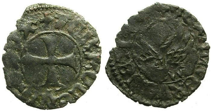 Ancient Coins - CRUSADER.GREECE under VENICE.Tommaso Mocenigo AD 1414-1423.Bi.Tornesello.