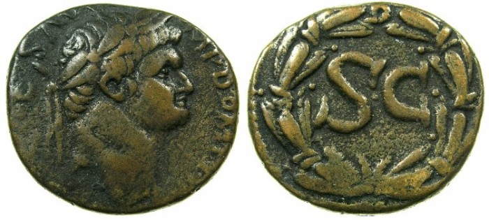 Ancient Coins - SYRIA.SELEUCIS AND PIERIA.ANTIOCH.Domitian AD 81-96.AE.As?.