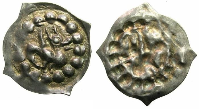 Ancient Coins - GERMANY.BREISGAU.Uncertain mint.Circa 1250.AR.