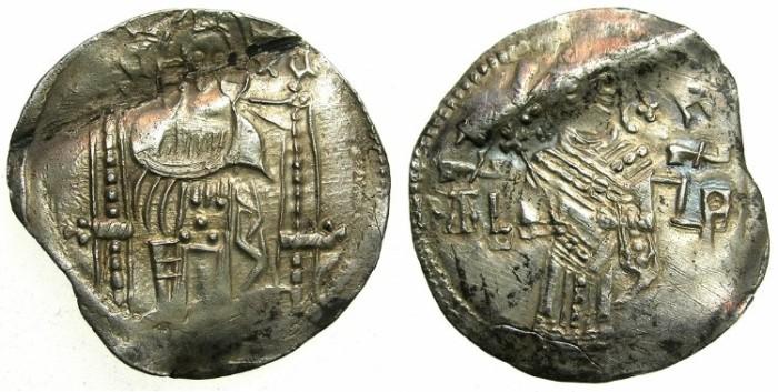 Ancient Coins - SERBIA.Tsar Stefan Dusan AD 1331-1335.AR.Dinar.