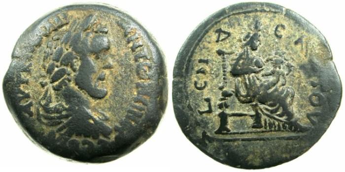 Ancient Coins - EGYPT.ALEXANDRIA.Antoninus Pius AD 138-161.AE.Drachma, struck AD 147/148.~#~.Isis suckling Harpokrates.