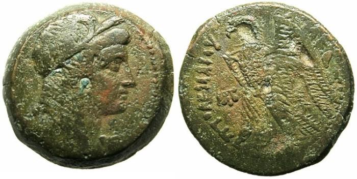 Ancient Coins - PTOLEMAIC EMPIRE.EGYPT.Ptolemy VI Philometer 180-145 BC.AE.27.