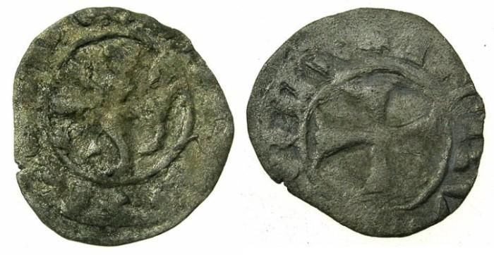 Ancient Coins - CRUSADER STATES.CYPRUS.James I ( AD 1382-1398 ) or Janus ( AD 1398-1432 ).Billon Denier.