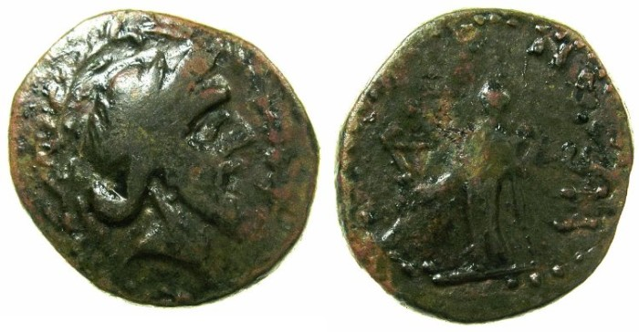 Ancient Coins - PHOENICIA.PTOLEMAIS.Reign of Augustus.AE.23.4mm.struck AD 9/8.**** 2 EXAMPLES RECORDED IN RPC *****