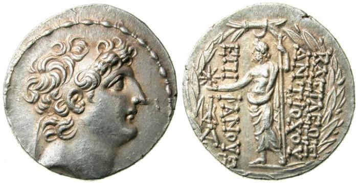 Ancient Coins - SELEUCID EMPIRE.Antiochus VIII Ephiphanous II 121-96 BC.AR.Tetradrachm.mint of ANTIOCH