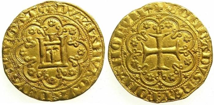 Ancient Coins - ITALY.GENOA.Simone Boccanegra Duke 1339-1344 and 1356-1363.AV.Genovino d'Oro.