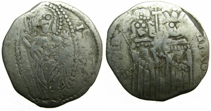 Ancient Coins - SERBIA.Stefan Uros IV Dusan as Emperor AD 1345-1355.AR.Dinar.