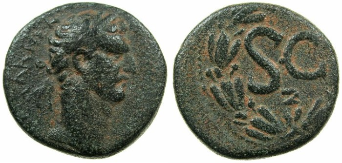 Ancient Coins - SYRIA.SELEUCIS AND PIERIA.ANTIOCH.Nerva AD 96-98.AE.As?.Struck AD 97.