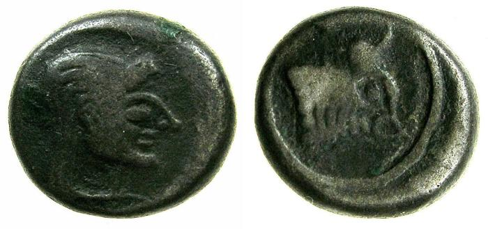 Ancient Coins - BOSPOROS.COLCHIS.Circa 5th cent BC.Billon Hemi drachm.