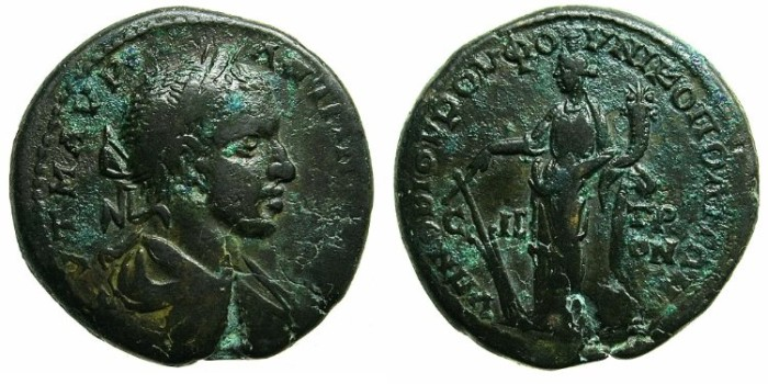 Ancient Coins - MOESIA INFERIOR.NIKOPOLIS AD ISTRUM.Elagabalus AD 218-222.AE.27.Tyche.