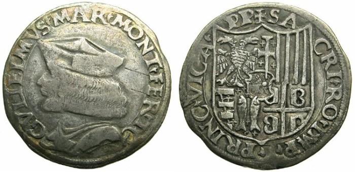 Ancient Coins - ITALY.PIEDMONT.CASALE.Guglielmo II Paleologo AD 1494-1518.AR.Testone.N.D.