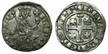 World Coins - CRUSADER STATES.CYPRUS.Henry II AD 1285 1310 AR Gros grand. ~~~ Star left field