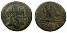 Ancient Coins - PONTUS.AMASEIA.Circa 100-85 BC. AE.28.8mm.~~~Bust of Zeus.~#~.Eagle on thunderbolt.