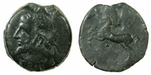 Ancient Coins - NUMIDIA.Massinissa or Micipsa circa 203-148-118 BC.AE.26.4mm.