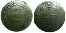 World Coins - ITALY.SARDINIA.Vittorio Amadeo II King of Sardinia 1718-1730.Billon Soldo 1722.1st type.Mint of TURIN.~*** Extremely rare.