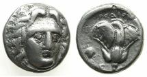 Ancient Coins - CARIA, Island off. RHODES.Circa 305-275.AR.Didrachma