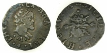 World Coins - ITALY.Kingdom of Naples and Sicily.Philip II 1554-1598, 2nd period King of Spain and Naples-Sicily 1556-1598.AR.Mezzo Carlino ( Zanetta ) N.D ( struck 1591 ).Mint of NAPLES.