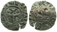 World Coins - CRUSADER STATES.GREECE.EPIRUS.John II Orsini 1323-1335.Bi.Denier.Struck at Castle of  ARTA.Garbled legends.