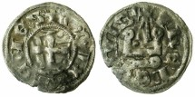 World Coins - CRUSADER STATES.GREECE.ATHENS.William I of la Roche AD 1280-87 or Guy II of la Roche AD 1287-1308.Bi.Denier.Type A8.