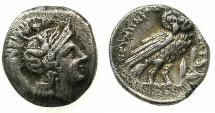 Ancient Coins - CALABRIA.TARENTUM.circa 280-272 BC.AR.Drachma, issue struck during the Phyrric Wars.***Ex David Sellwood collection.****
