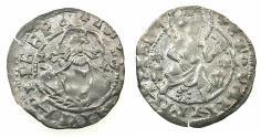World Coins - BULGARIA.John Stracimar AD 1360-1396.AR.Grosch, reduced weight. Rosette between kings feet.