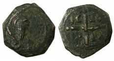 World Coins - CRUSADER STATES.Principality of Antioch.Tancred AD 1104-1112.AE.Follis.2nd type. Facing bust of Tancred.