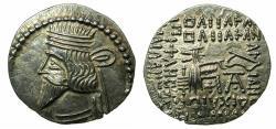 Ancient Coins - PARTHIA.Pacorus I AD 78-120.AR.Drachma.Mint of EKBATANA. King with medium length beard.